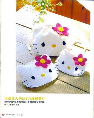 Patrón para hacer los bolsos de Hello Kitty: