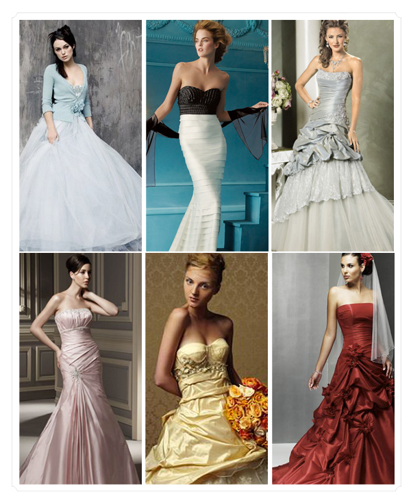 So, break all the rules and dare to be different in a colorful gown that has