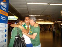 Andre Brasil despedida no aeroporto