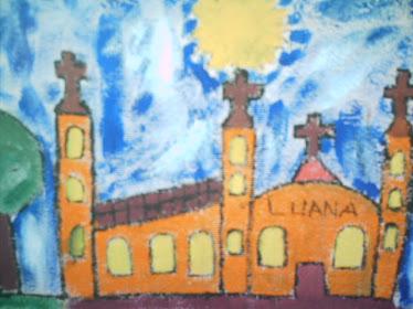 Igreja 2 guache sobre papel,autoral