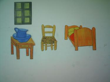 Quarto de Van Gogh pintura mdf