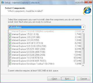 Download (Get) All the Internet Explorer Versions