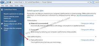 Setting the Power Plan in Windows 7 To High Performance Mode
