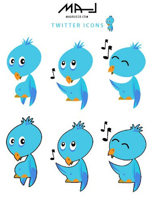 singing twitter icons 400+ Beautiful Twitter Icons for your Website