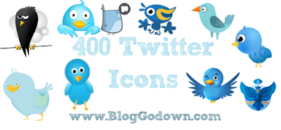 400 twitter icons 400+ Beautiful Twitter Icons for your Website