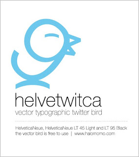 Helvetica Vector typographic twitter icon