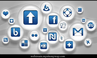 blue and white pearl social bookmarking icons webtreats preview 75 Beautiful Free Social Bookmarking Icon Sets