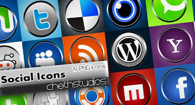 Knobs Social Bookmarking icon set