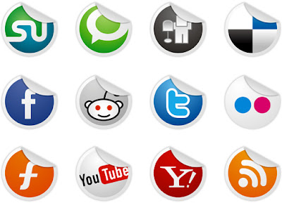 Sticker social bookmarking icons
