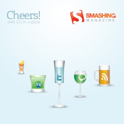 Cheers social bookmarking icon set