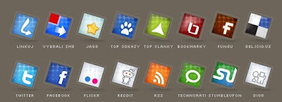 Set of social icons no 2 by Tydlinka 75 Beautiful Free Social Bookmarking Icon Sets