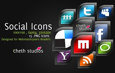 great leaf shaped social media icons by cheth
