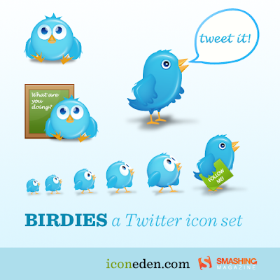 birdies cute twitter icons by iconeden 350+ Fresh Twitter Icons