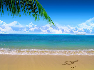 Sand Love Beach Nature HD Wallpaper