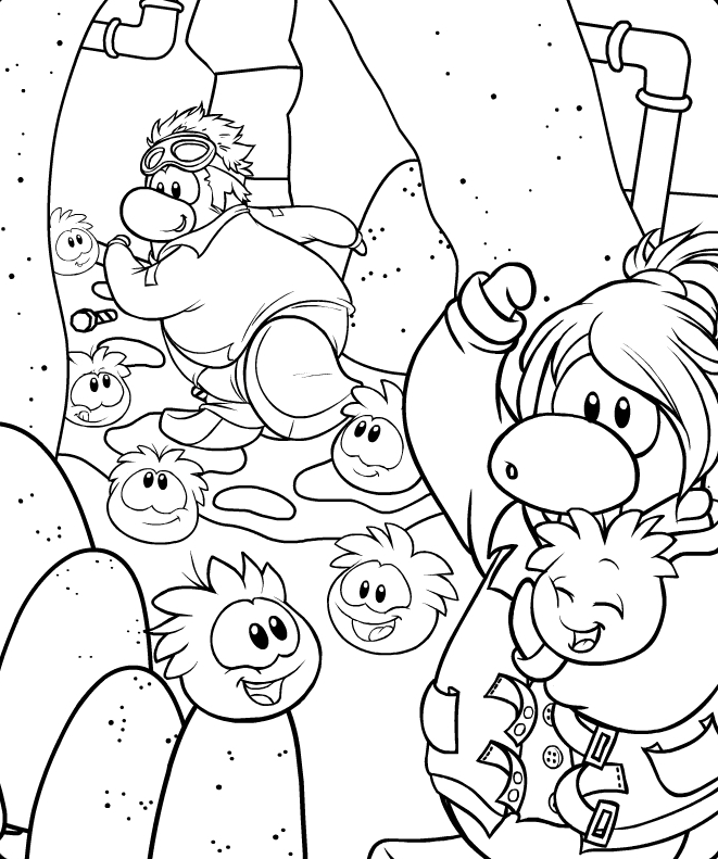 BCP: Club Penguin New Coloirng Page