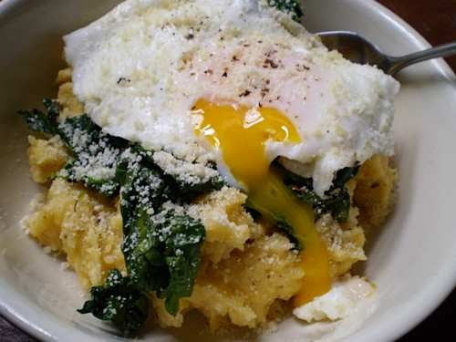 Polenta with Swiss Chard, Pancetta, and a Fried Egg: A Group Recipe!