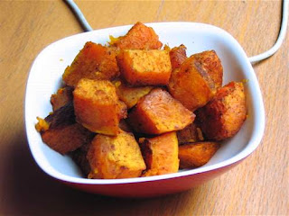 Roasted Butternut Squash with Moroccan Spices: Back in Orange