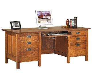 Cherry Oak Executive Desk from Anthony Lauren