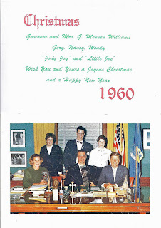 Christmas Card Governor Williams, President Kennedy