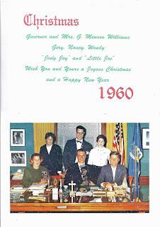 Christmas Card Governor Williams, President Kennedy