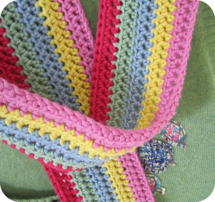 Crochet Scarf Pattern Vertical Stripes : Pink Milk: Just Us Girls ...