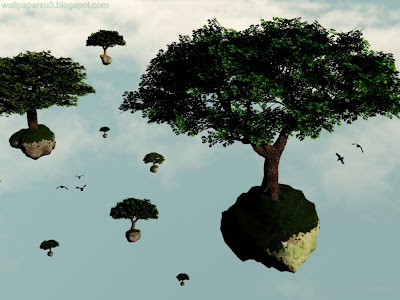 Trees 3D Standard Resolution Wallpaper