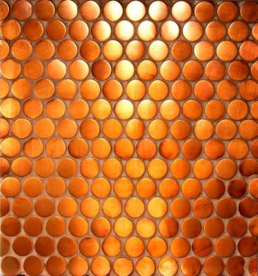 Cherish toronto tile profile penny rounds for Copper penny tile backsplash