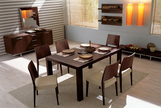 Simple house furniture for Simple dining room table decor