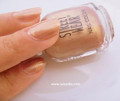 gold nail paint