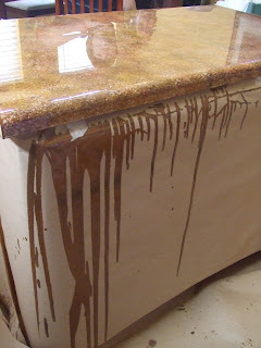So lovely creations painted kitchen counter tops for Can you paint granite countertops