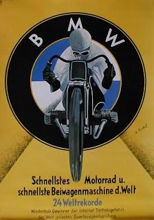 Redlegs Rides  BMWs Vintage Motorrader Posters