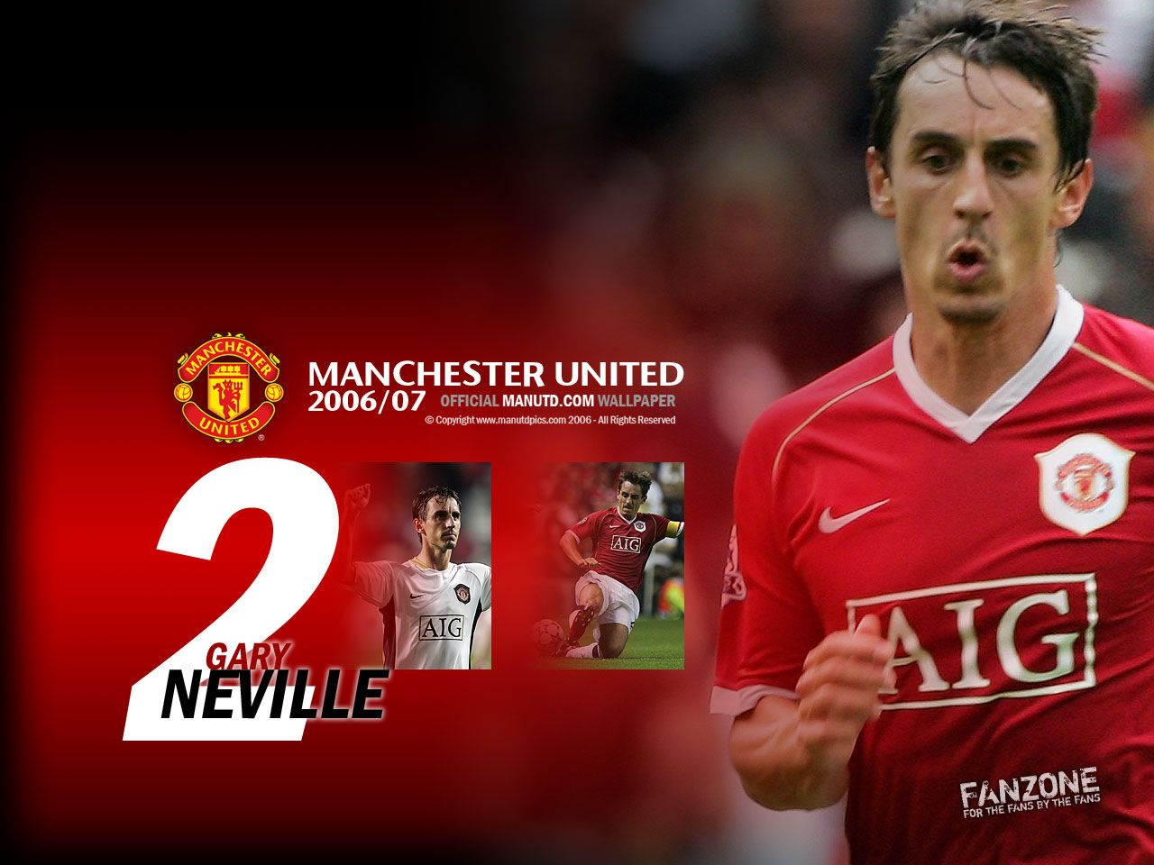 Gary Neville Famous Players Manchester United