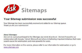 Submit Blog Sitemap on ASK.COM Search Engine
