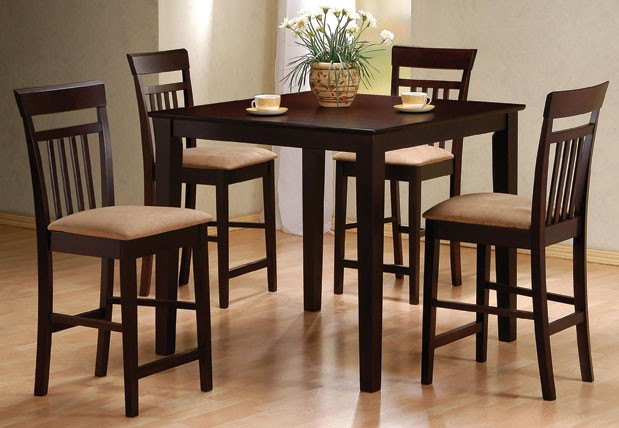 Small Table Square For 4 People Table Set For Condo Size Wooden With