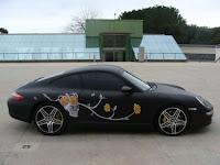 Dartz Porsche 911 with whale skin vinyl exterior