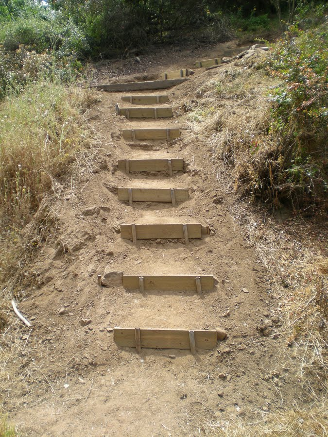 Build Landscape Timber Steps : Griffith park wayist may