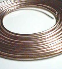 Tubo Flexible de cobre.