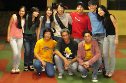 Eu, Márcio Américo e os parentes do Jackie Chan após uma apresentação inspirada