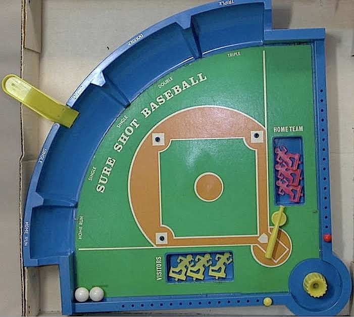 Classic Toy Museum: Sure Shot Baseball Game 1970s