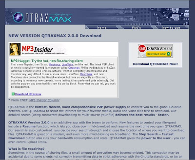 Cnet Downloads EMBEDDED Button Homepage of Bearshare 3/27/2002