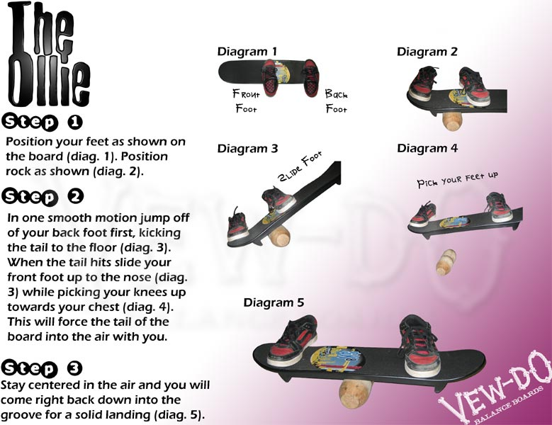 How to Do an Ollie on a Tech Deck board