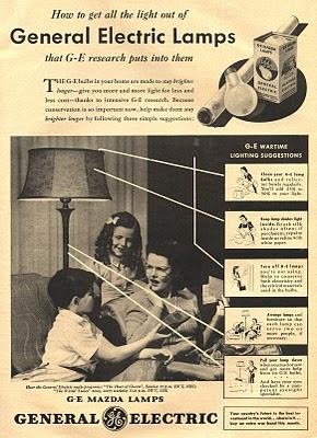 vintage GE ad 1943