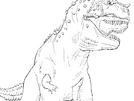 Drawing Dinosaur Coloring Page