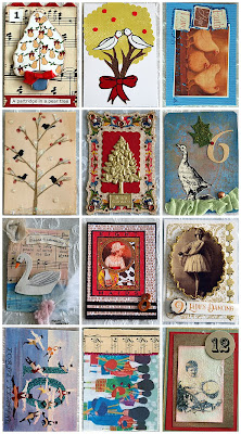 Art and inspirations free vintage image and the 12 days for 12 days of christmas door decoration