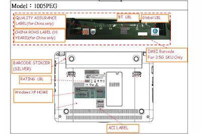 Asus Eee PC 1005PEG Netbook