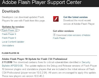 Adobe Flash Player 10 Download