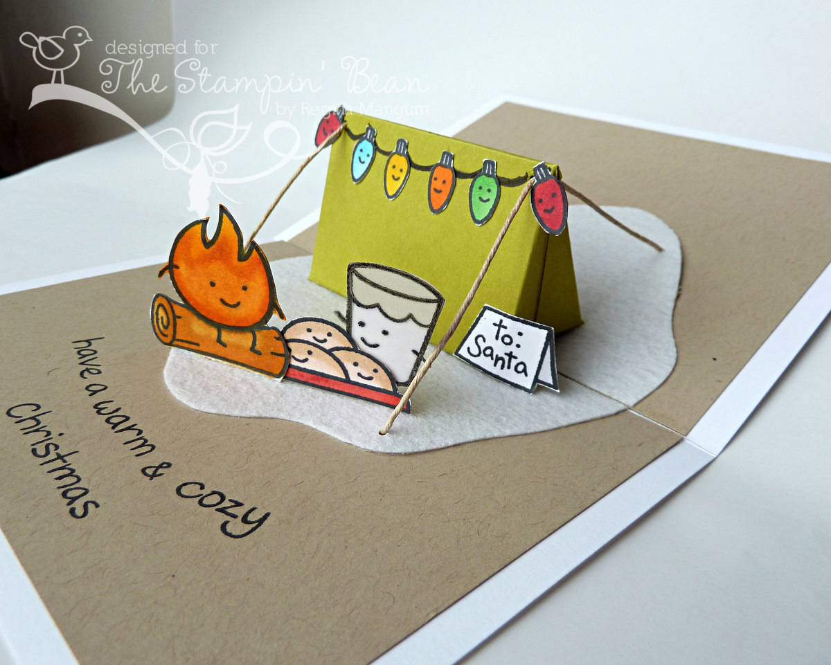 how to make a pop up tent card