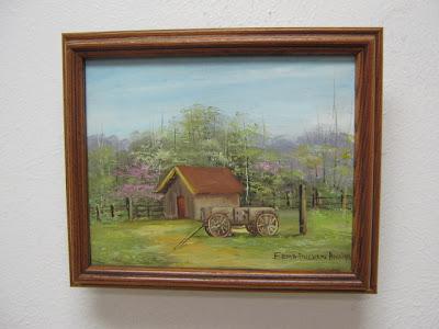 Wagon and Barn