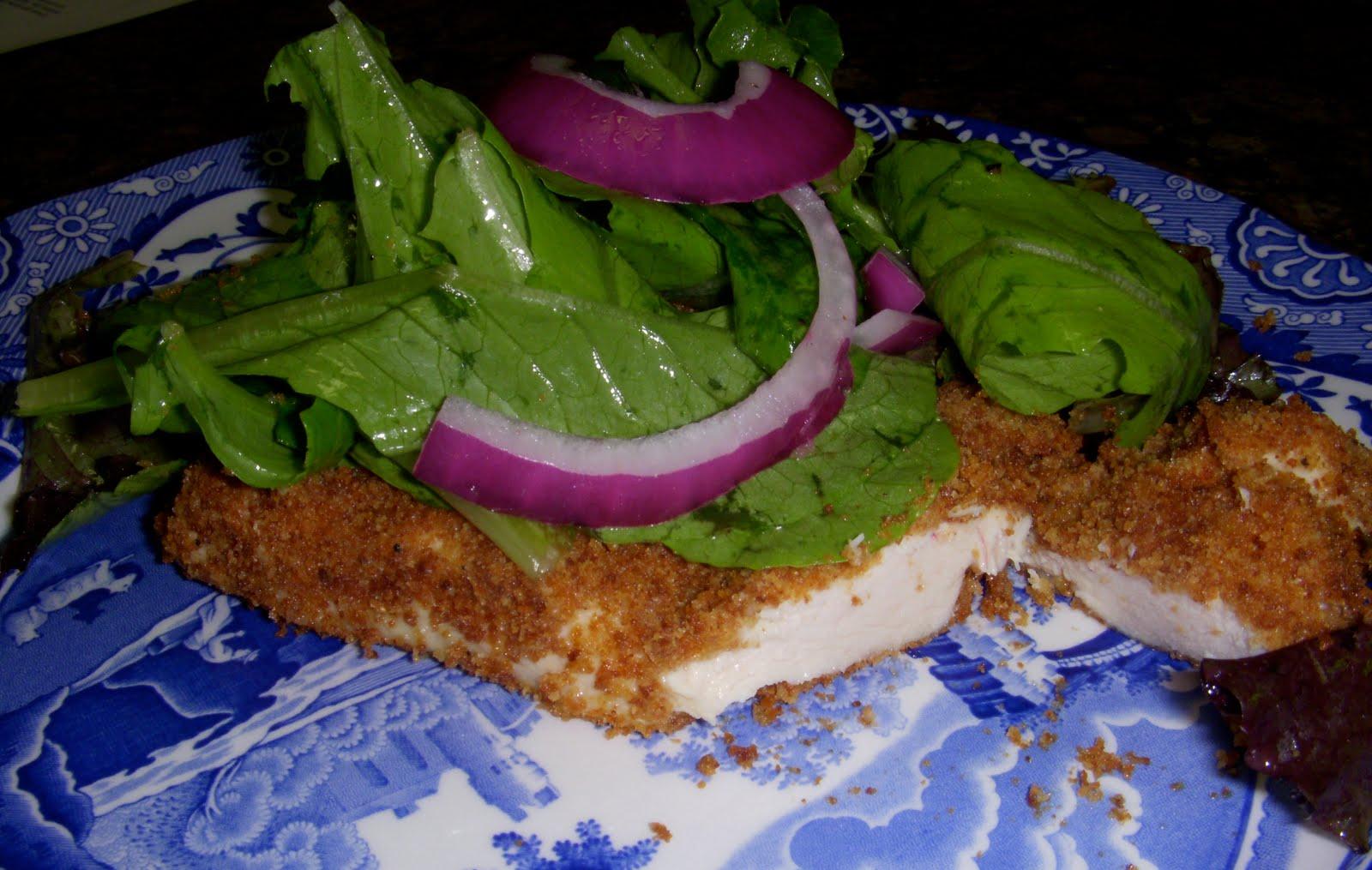 Chicken Milanese with Arugula Salad – Dallas Duo Bakes