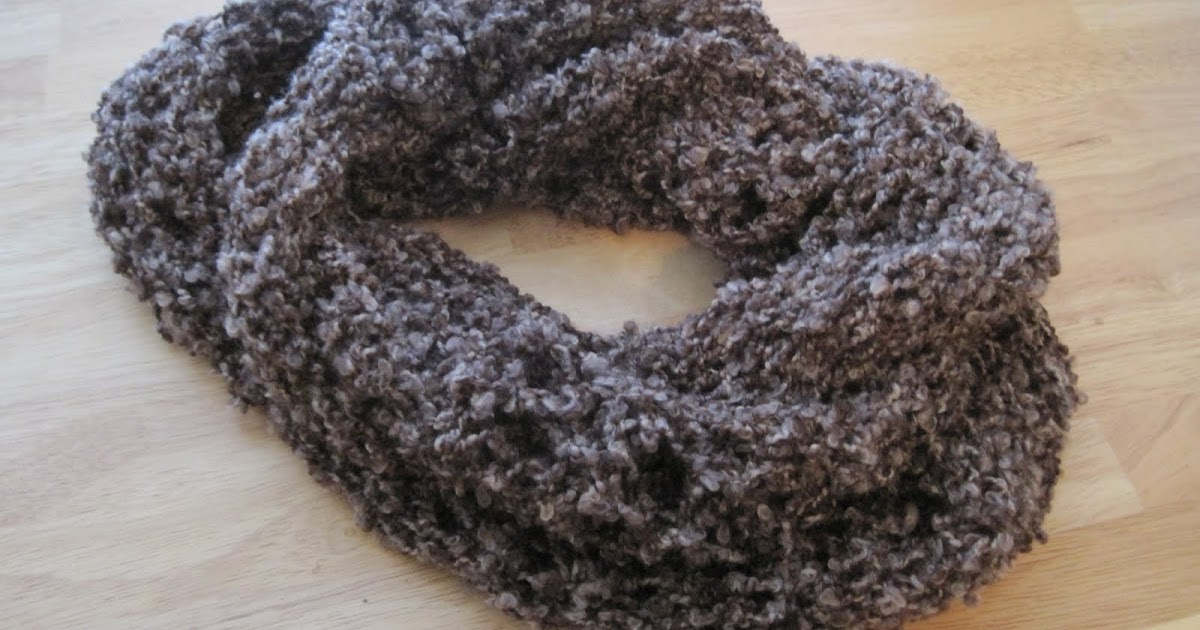 Boucle Yarn Knitting Patterns : Knit-O-Matic the Knitting Addict: Just Because Cowl